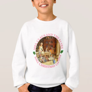 Frau Klaus und die Elfe backen Weihnachtsplätzchen Sweatshirt