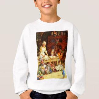 Frau Klaus und Sankt-Elfe backen Sweatshirt