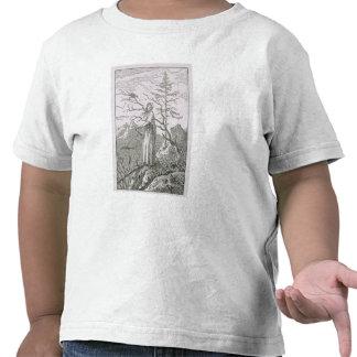 Frau mit einem Raben, am Rand eines Abgrundes Shirts