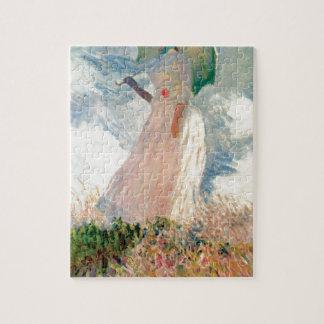 Frau mit einem Sonnenschirm - Claude Monet Puzzle