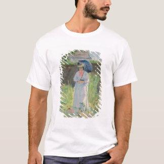 Frau mit einem Sonnenschirm (Pastell auf Papier) T-Shirt