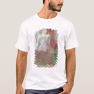 """Frau stehend hinter einer Tabelle, von """"Elles"""", T-Shirt"""