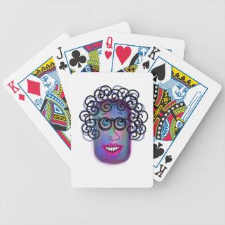 Frau von Ausdrücken Pokerkarten