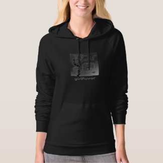 Frauen American Fleece Pullover ZenZia Frauenpower