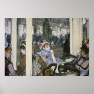Frauen Edgar Degass | auf einer Café-Terrasse, Poster