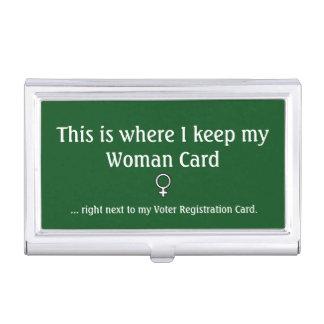Frauen-Karte, Visitenkarte-Halter Visitenkarten-Schatullen