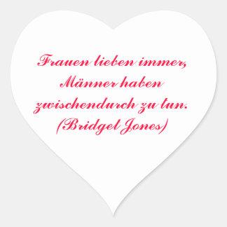 Frauen lieben immer... Herz-Aufkleber