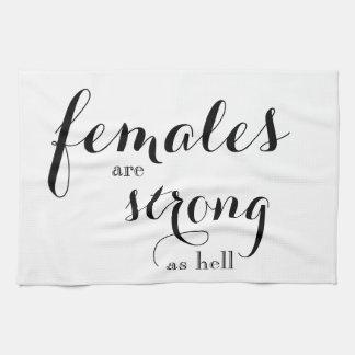 Frauen sind starkes Dishtowel Handtuch