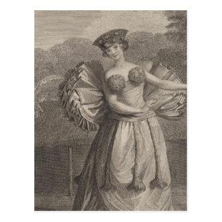 Frauen-Tanzen, Otaheite, Tahiti Postkarte