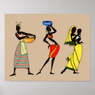 Frauen von Kenia-Animation Poster