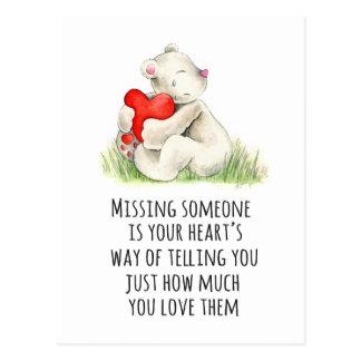 Fräulein Sie Teddybärzitatpostkarte Postkarten