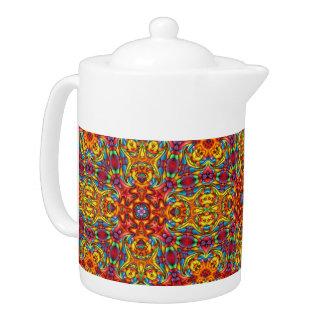Freaky Tiki Kaleidoskop-   Muster-Teekannen