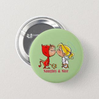 Frecher u. Nizza Knopf Runder Button 5,1 Cm