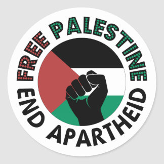 Freie Palästina-Enden-Apartheids-Palästina-Flagge Runder Aufkleber