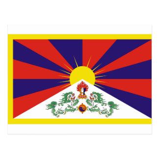 Freie Tibet-Flagge - Peu Rangzen བོད ་ རང ་ བཙན ་ Postkarte