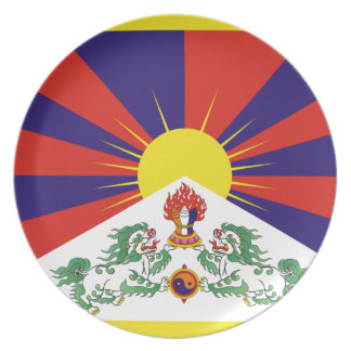 Freie Tibet-Flagge - Peu Rangzen བོད ་ རང ་ བཙན ་ Teller