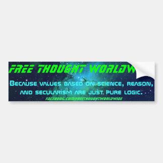 Freier Gedanken-weltweiter Autoaufkleber