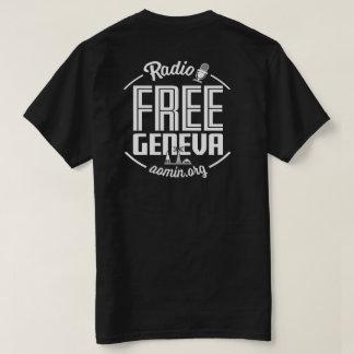 Freier Genf-RadioT - Shirt (Schwarzes)