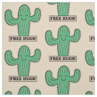 Freier Kaktus umarmt kundenspezifisches Gewebe Stoff