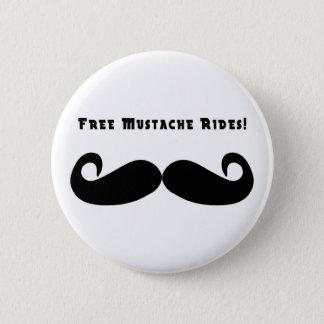 Freier Schnurrbart reitet Knopf Runder Button 5,7 Cm