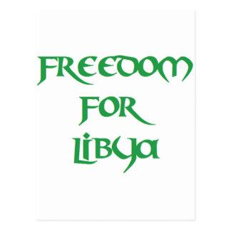 Freiheit für Libyen Postkarte