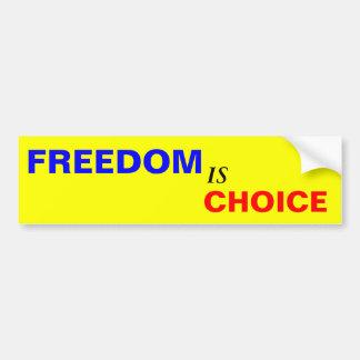 Freiheit ist auserlesen autoaufkleber