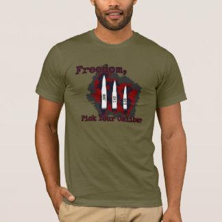 Freiheit, wählen Ihr Kaliber aus T-Shirt