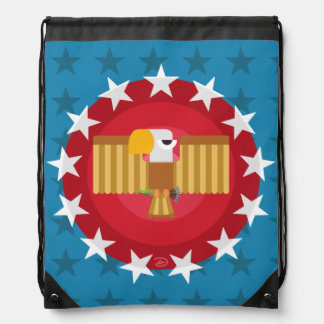 Freiheits-Eagle (blau) - Drawstring-Rucksack Turnbeutel