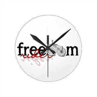Freiheits-Reiter-Fahrrad Runde Wanduhr