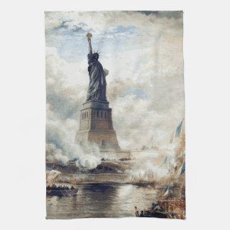 Freiheitsstatue 1886 vorstellend handtuch