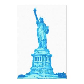Freiheitsstatue in den Schatten des Blaus Leinwanddruck
