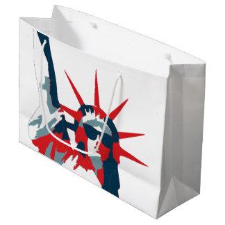 Freiheitsstatue tragende Sonnenbrille Große Geschenktüte