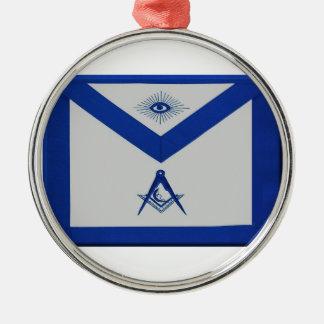 Freimaurerjuniordiakon-Schürze Rundes Silberfarbenes Ornament
