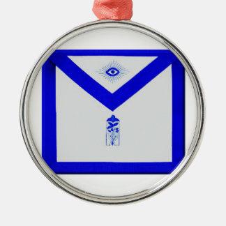 Freimaurerjuniorwärter Apron Rundes Silberfarbenes Ornament