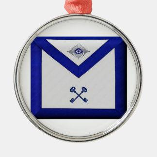 Freimaurerschatzmeister-Schürze Silbernes Ornament