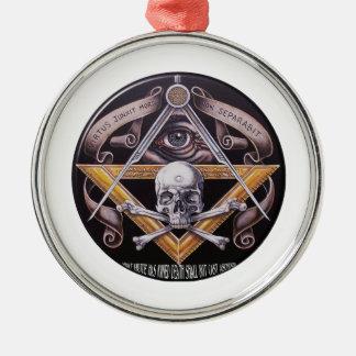 Freimaurervorzug Rundes Silberfarbenes Ornament