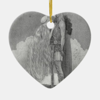 Freja und Svipdag durch John Bauer Keramik Ornament