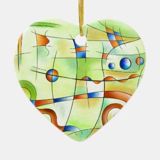 Frenesia - wütende Welt Keramik Herz-Ornament