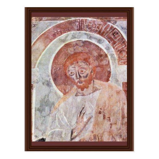 Freskenzylus Johannes Kirche in Müstair Szene AP Postkarte