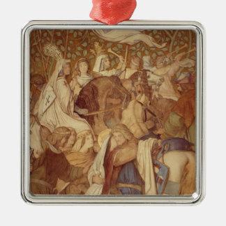 Fresko, Elisabeth-Galerie, Wartburg-Schloss Quadratisches Silberfarbenes Ornament