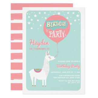 Frestive Alpaka-Kindergeburtstag-Party Einladung I