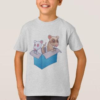 Frettchen in einem Kasten T-Shirt