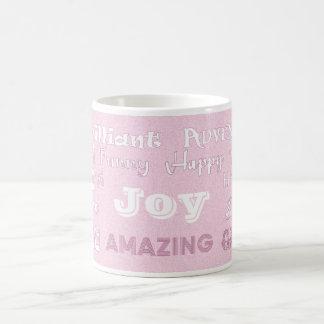 Freude-rosa bester Freund-Tasse Tasse
