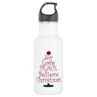 Freude-Weihnachtsbaum Trinkflasche
