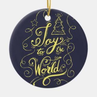 """""""Freude zur Welt"""" Dunkelheit - Weihnachtsgeschenke Keramik Ornament"""