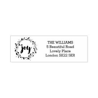 Freudewreath-Adressen-Briefmarke Permastempel