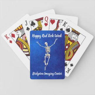 "Freudige Skeleton ""glückliche krasse Tech-Woche "" Spielkarten"