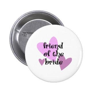 Freund der Braut Runder Button 5,1 Cm