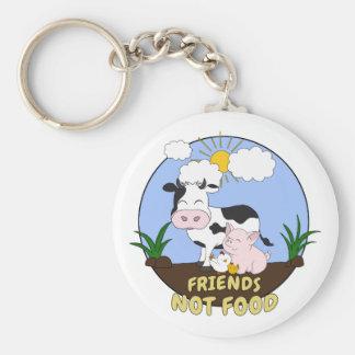 Freund-nicht Nahrung - niedliche Kuh, Schwein und Schlüsselanhänger