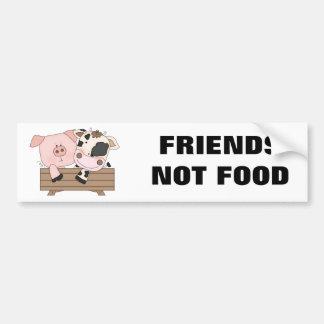 Freund-nicht NahrungsmittelAutoaufkleber Autoaufkleber